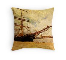 The James Craig Tall Ship Throw Pillow