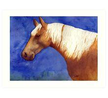 Palomino Quarter Horse Portrait Art Print