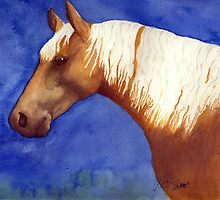 Palomino Quarter Horse Portrait by Oldetimemercan