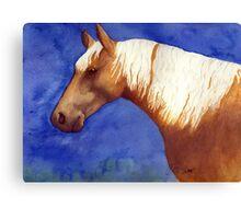 Palomino Quarter Horse Portrait Canvas Print