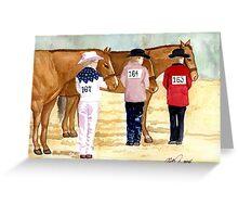 Quarter Horse Youth Showmanship Class Portrait Greeting Card