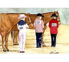 Quarter Horse Youth Showmanship Class Portrait Photographic Print