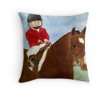Welsh Pony Child Leadline Class Portrait Throw Pillow