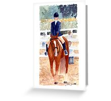 Quarter Horse Youth Hunter Under Saddle Class Portrait Greeting Card