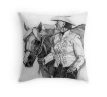 Amateur Quarter Horse Showmanship Portrait Throw Pillow