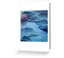 Water Lily in Moonlight Greeting Card