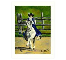 Azteca Dressage Horse Portrait Art Print