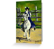 Azteca Dressage Horse Portrait Greeting Card