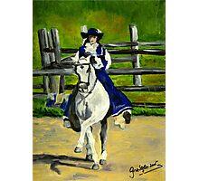 Azteca Dressage Horse Portrait Photographic Print