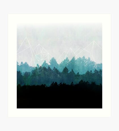 Woods Abstract Art Print