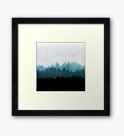 Woods Abstract Framed Print
