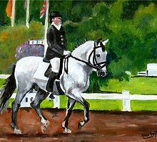 Lusitano Dressage Horse Portrait by Oldetimemercan
