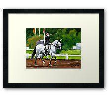 Lusitano Dressage Horse Portrait Framed Print