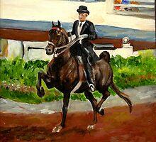 Morgan Horse Saddleseat Portrait by Oldetimemercan