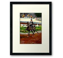 Morgan Horse Saddleseat Portrait Framed Print