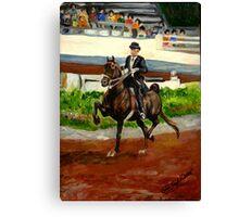 Morgan Horse Saddleseat Portrait Canvas Print
