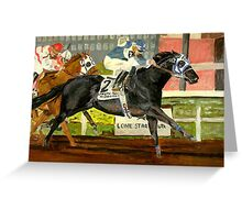 Quarter Horse Racing Portrait Greeting Card
