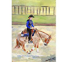 Quarter Horse Reining Class Portrait Photographic Print