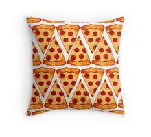 Pizza Emoji Pattern Throw Pillow