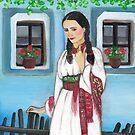 Folk art -  No Ordinary Morning  by Marikohandemade