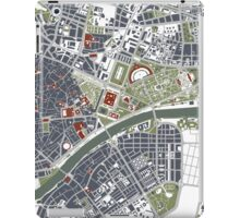 Seville city map engraving iPad Case/Skin