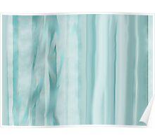 SR Grant Original Digital Art:  Blue, Green, Ice curtain  Poster