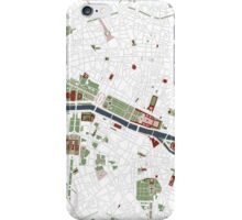 Paris city map minimal iPhone Case/Skin
