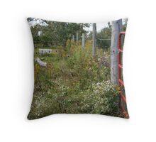 Farm Fence Throw Pillow