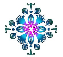 Emerald and turquoise Wo- mandala by didielicious