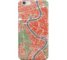Rome city map classic iPhone Case/Skin