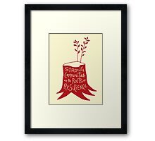 Strong Communities Are the Roots of Resilience Framed Print