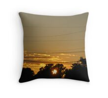 Just Behind The Trees Throw Pillow