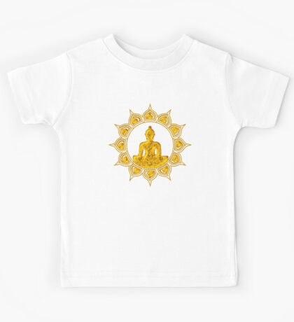 Buddha Meditation, Lotus Flower, Anahata, Heart Chakra Kids Tee