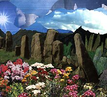 16 - THE DRUIDS' GARDEN - DAVE EDWARDS - COLLAGE & INK - 1995 by BLYTHART