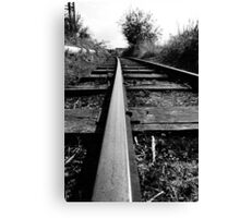 Rail Track. Canvas Print
