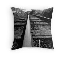 Rail Track. Throw Pillow