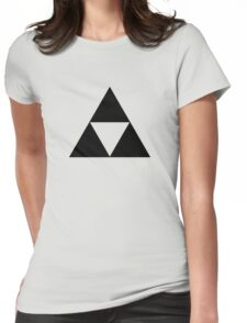 Triforce - Ancient Magical Symbol, Sierpinski Triangle Womens Fitted T-Shirt