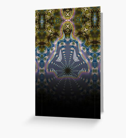 Fractal Meditation Visions Greeting Card