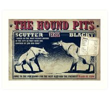 Hound Pits Pub Art Print
