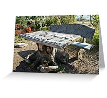 Furniture to your garden Greeting Card