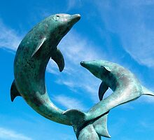 Leaping Dolphins at the Island Hotel by Alex Cassels