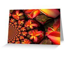 Frangipani Swirl Greeting Card