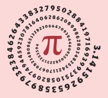 Pi, π, spiral, Science, Mathematics, Math, Irrational Number, Sequence Kids Clothes