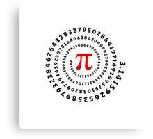 Pi, π, spiral, Science, Mathematics, Math, Irrational Number, Sequence Canvas Print
