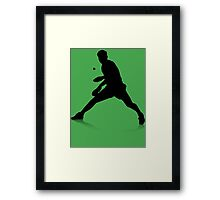 Table Tennis Player Framed Print