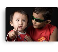 Brother,I am Scared!!!!! Cool Baby..... Canvas Print