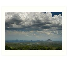 Clouds over Glasshouse Mountains Art Print