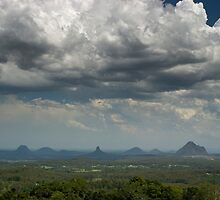 Clouds over Glasshouse Mountains by Werner Padarin