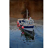 Fishing Boat in Staithes Harbour Photographic Print