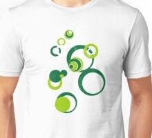 Retro Bubbles Seventies green Unisex T-Shirt
